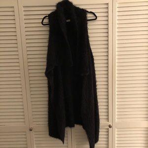Black mohair vest
